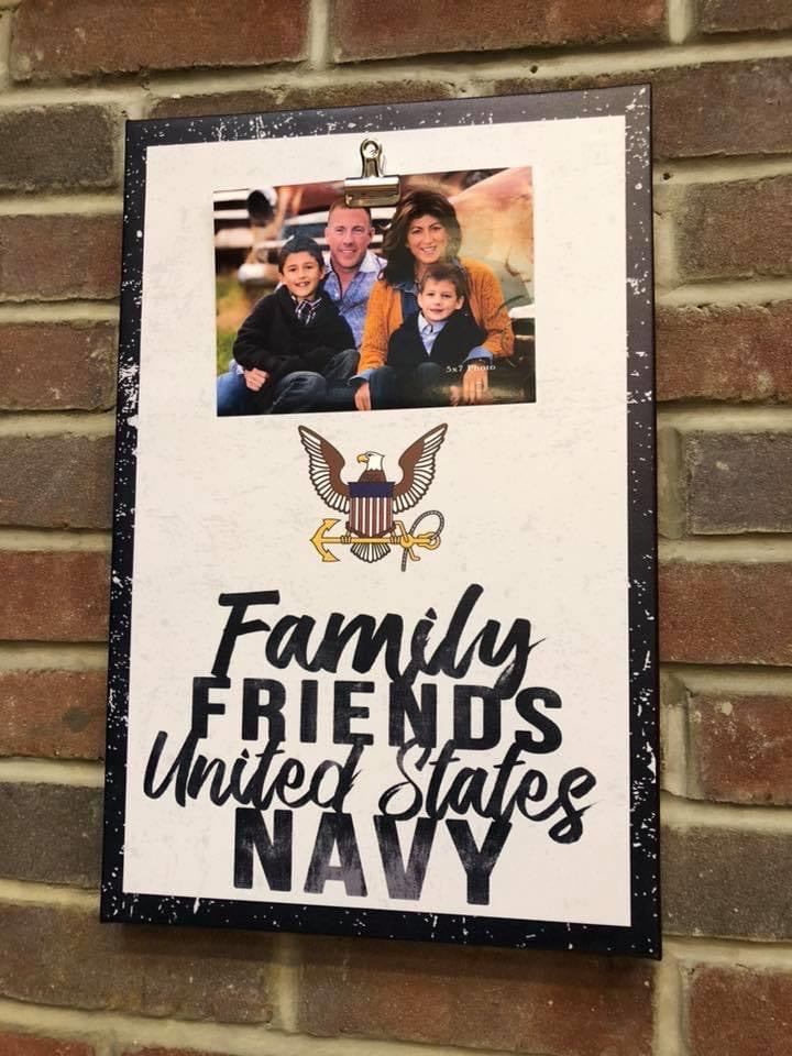 Clip Canvas Navy Photo Frame