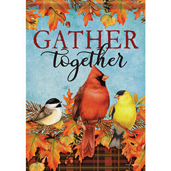 Autumn Songbirds Garden Flag