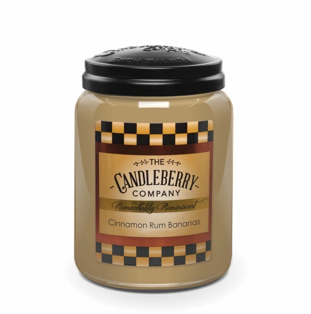 Cinnamon Rum Bananas 26 oz Candleberry Candle