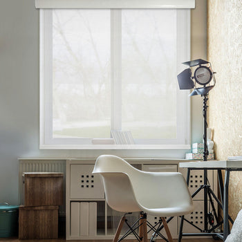 Free Stop Cordless Roller Shades | Solar White