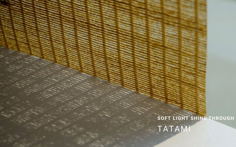 soft light shine through-tatami