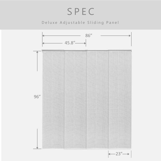 gray sliding panels