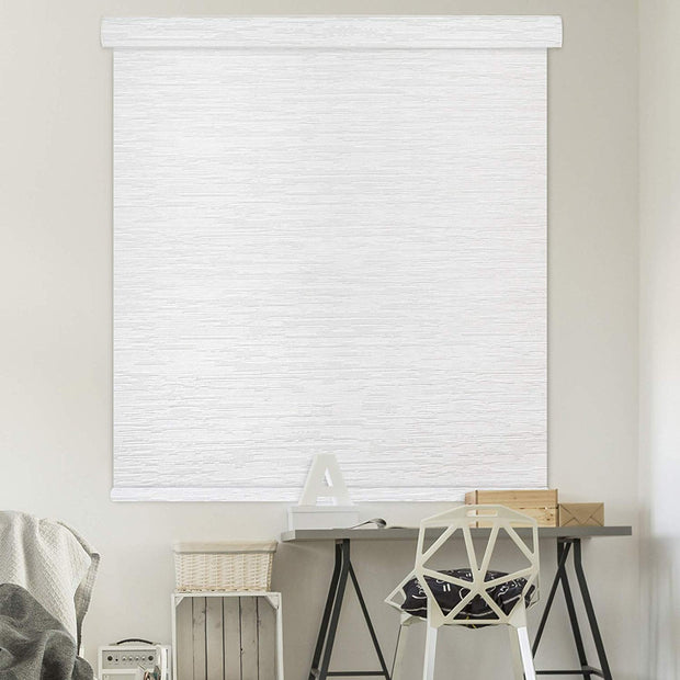 Free Stop Cordless Roller Shade | Black out| Roller Shade | Snow - GoDear shop
