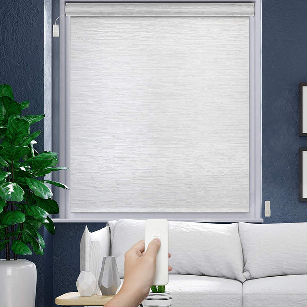 Motorized Roller Shade | Blackout | Snow - GoDear shop