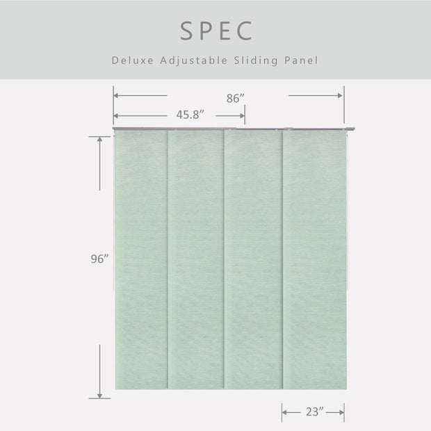 patio sliding panel track