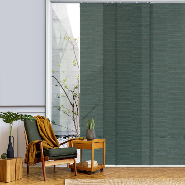 green panel track blinds