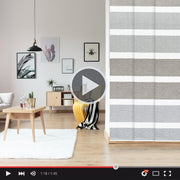 Adjustable Sliding Panels |  Semi-Sheer | Wheat