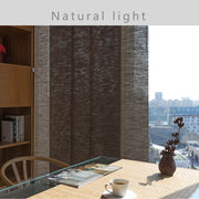 dark brown window covering light control
