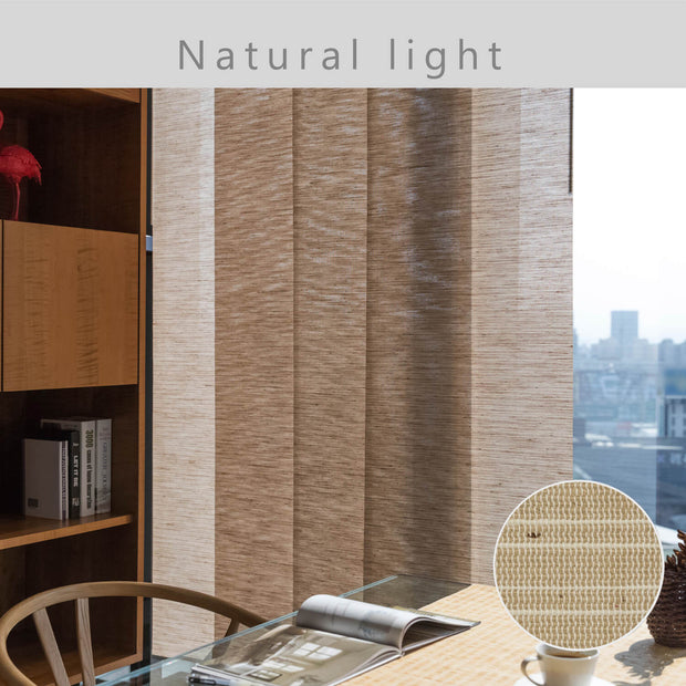 beige window covering light control