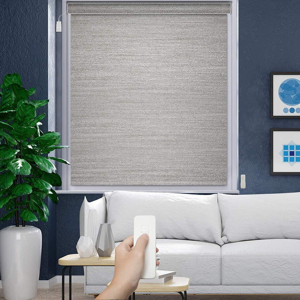 Motorized Roller Shade | Light Filtering | Pebble - GoDear shop