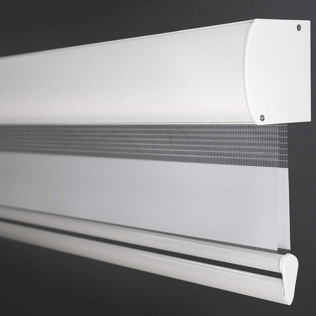 Free Stop Roller Shade | Zebra Roller Shade | White - GoDear shop