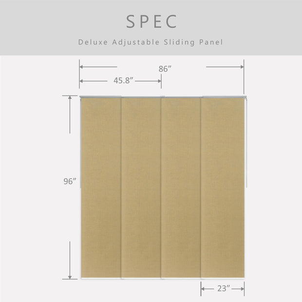 brown window covering size