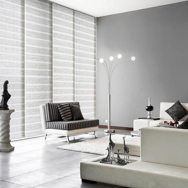 sliding panel track blinds-window shade