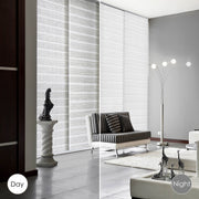 sliding panel track blinds-white