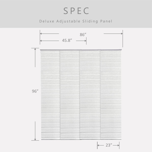 Adjustable Sliding Panels | Light Filtering | Swan - GoDear shop