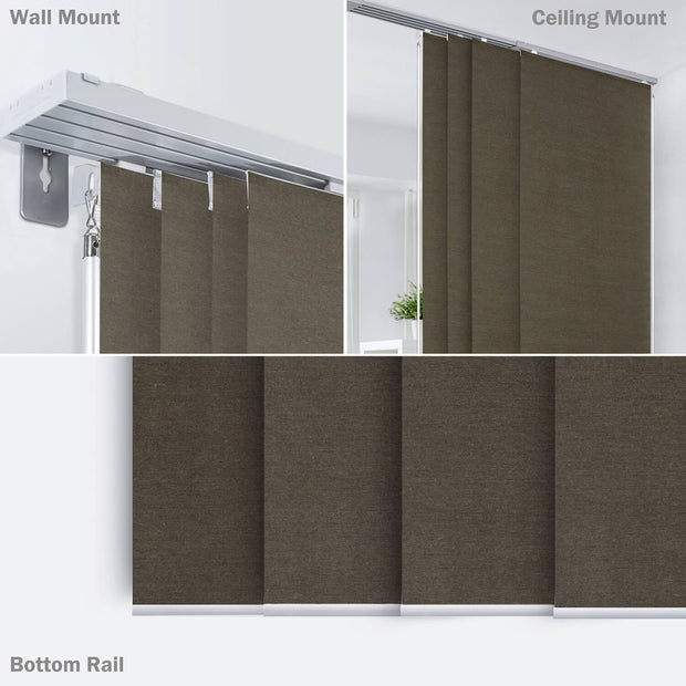 dark brown window covering
