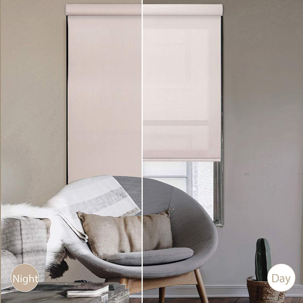 Free Stop Cordless Roller Shade | Roller Shade | Champagne