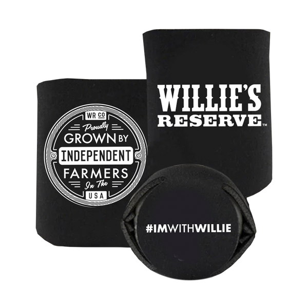 Willie's Reserve - Black and white koozie