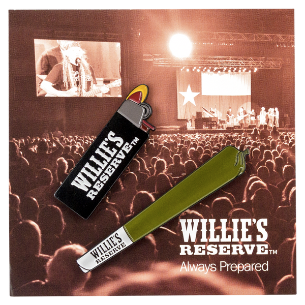 Willie's Reserve - Lighter and joint enamel pin set