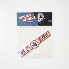 Willie's Reserve - Embroidered weed leaf and logo patch