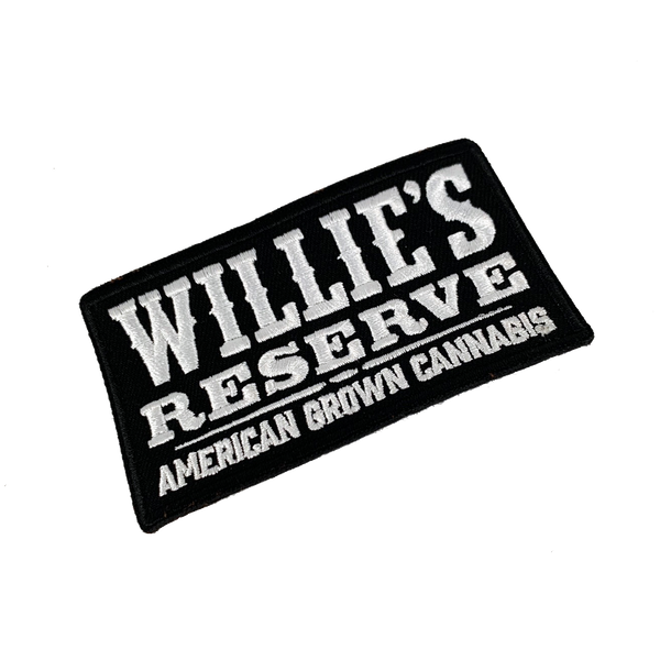 Willie's Reserve - Embroidered black and white logo patch