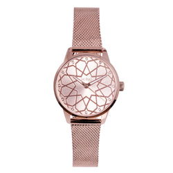 Alhambra Women - Pure Rose Gold Swiss Watch - Geometric Watch with Islamic Design