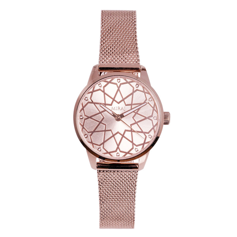 Alhambra Women - Pure Rose Gold Watch - Geometric Watch with Islamic Design