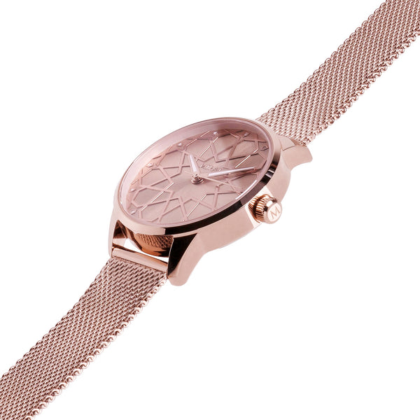 Alhambra Women - Pure Rose Gold Swiss Watch - MirajCollections