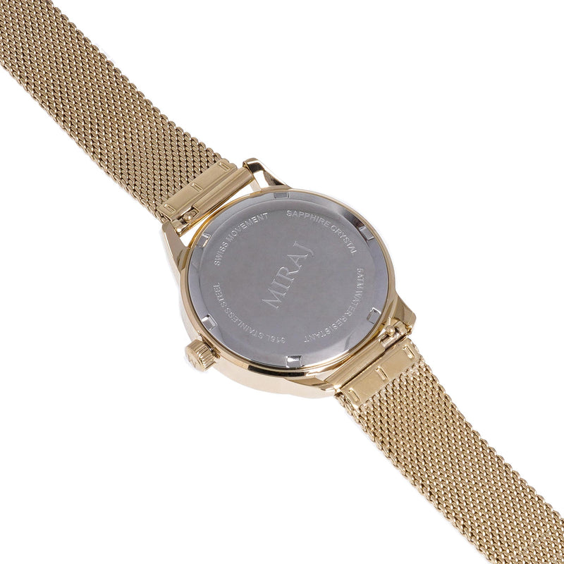 Alhambra Women - Gold & White Swiss Watch - MirajCollections