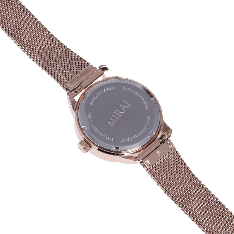 Alhambra Women - Rose Gold & White Swiss Watch - Geometric Watch with Islamic Design