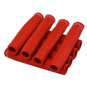 Spark Plug Wire Boot Heat Shield - 8 Pieces RED