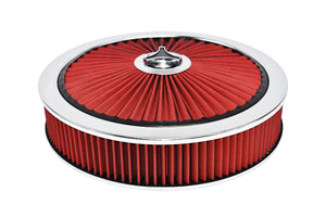 "RED AIR CLEANER KIT & STAR WING NUT 14""X3"""