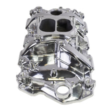 Load image into Gallery viewer, 1955-1995 SBC CHEVY 262/283/302/327/350/383/400 CARBURETED DUAL PLANE INTAKE MANIFOLD POLISHED