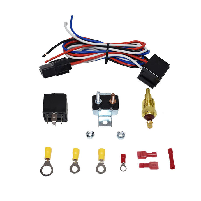 ELECTRIC RADIATOR FAN RELAY W/ THERMOSTAT INSTALL KIT 180-200
