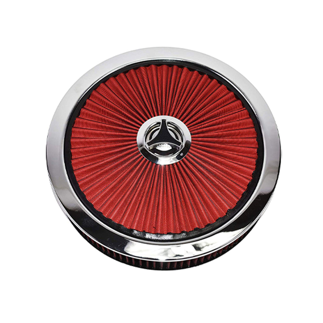 RED AIR CLEANER KIT & STAR WING NUT 14