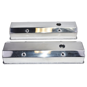 GM SB 283/327/350T FABRICATED ALUMINUM VALVE COVERS