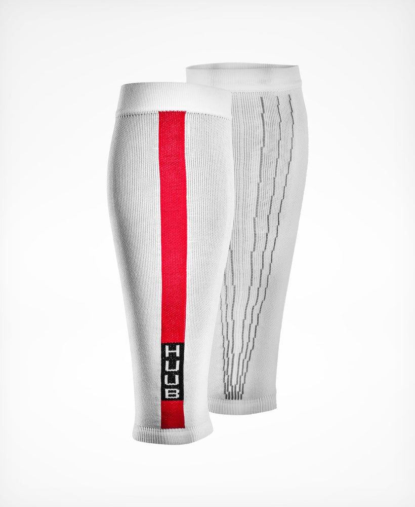 Compression Race Calf Sleeve - White