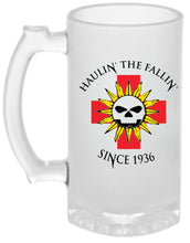 Load image into Gallery viewer, Haulin' The fallin'   16oz Frosted Glass Beer Mug