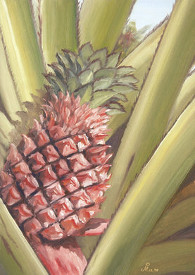 Oil painting of pineapple.