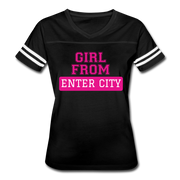 Women's Sports Tshirt - black/white