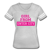 Women's Sports Tshirt - heather gray/white