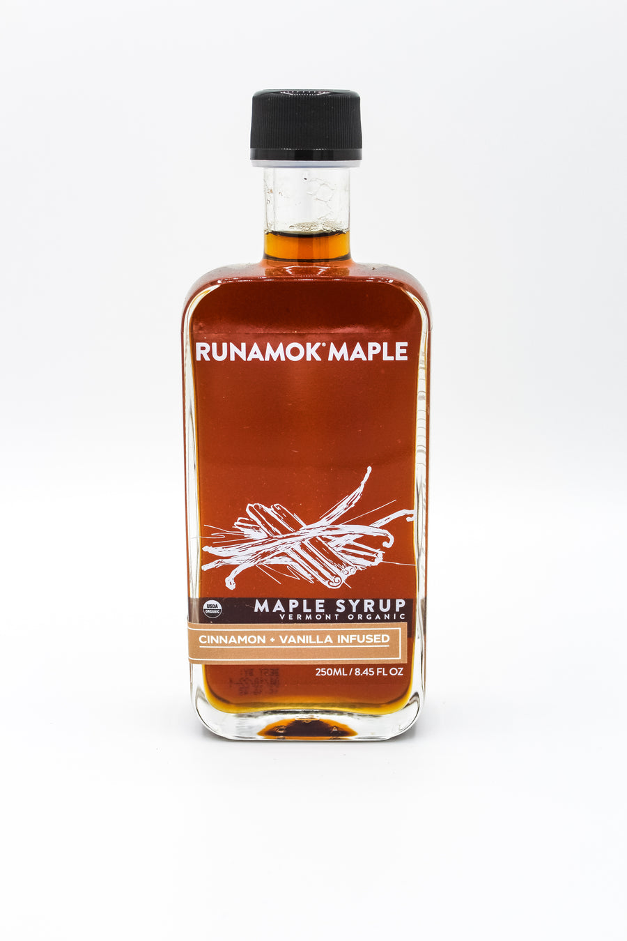 Cinnamon-Vanilla Infused Organic Maple Syrup