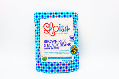 Brown Rice & Black Beans with Sazón - The Izzy Box