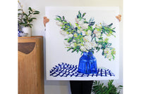 May bush and the blue vase