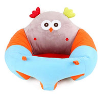 Baby Sitting Chair Infant Soft Support Seat Portable Cartoon Animal Seat Dining Chair with Toys Attachment Safety Seats 20.47inch