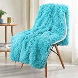 Noahas Super Soft Shaggy Longfur Throw Blanket - Snuggly Fuzzy Faux Fur Blanket - Warm Cozy Plush Sherpa Fleece Blanket - for Couch Sofa Bed Photo Props, Light Grey, 50x60 inch