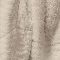 The Connecticut Home Company Luxury Faux Fur with Sherpa Reversible Kids Throw Blanket, Super Soft, Large Wrinkle Resistant Blankets, Warm Hypoallergenic Washable Couch or Bed Throws, 65x50, Ivory