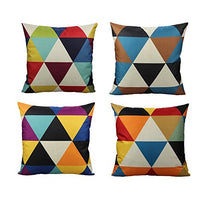 All Smiles Navy Blue Outdoor Patio Throw Pillow Covers Cases Decorative for Couch Sofa Furniture Home Decor Geometric Accent Cushion Square 18×18 Set of 4