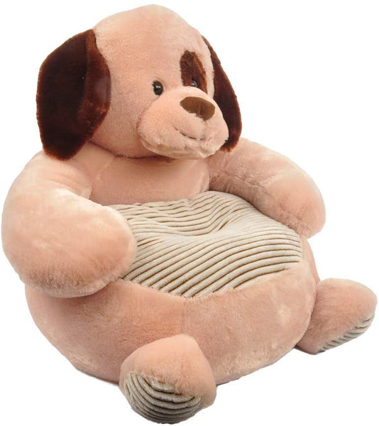"Linzy Plush Dog with Spot Plush Sofa 20"" Childrens Furniture, Brown, 20"""