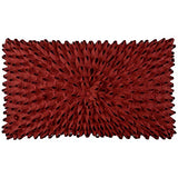 King Rose 3D Handmade Flower Home Decorative Accent Throw Pillow Case Artistic Cushion Cover for Sofa Couch Chair 12 x 20 Inches Solid Suede Red